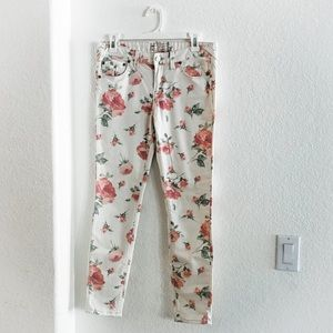 Gently Used Free People Low Rise Skinny Floral